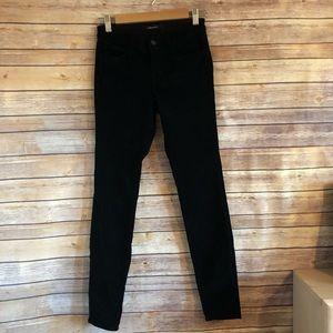 J Brand Black Cordoroy Skinny Jeans 26